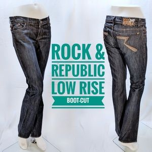 Rock & Republic Low Rise Boot-Cut Jeans. Kasandra